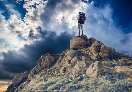 bergsteiger gipfel himmel