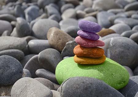 bunte steine harmonie