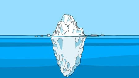 eisberg erfolg beispiel