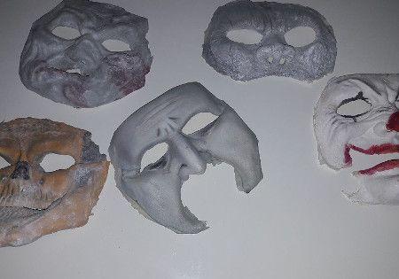 halloween karneval latexmasken