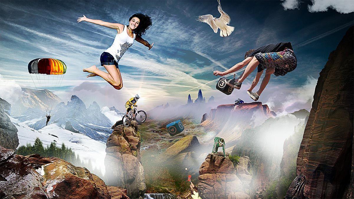 klettern fallschirmspringen biken