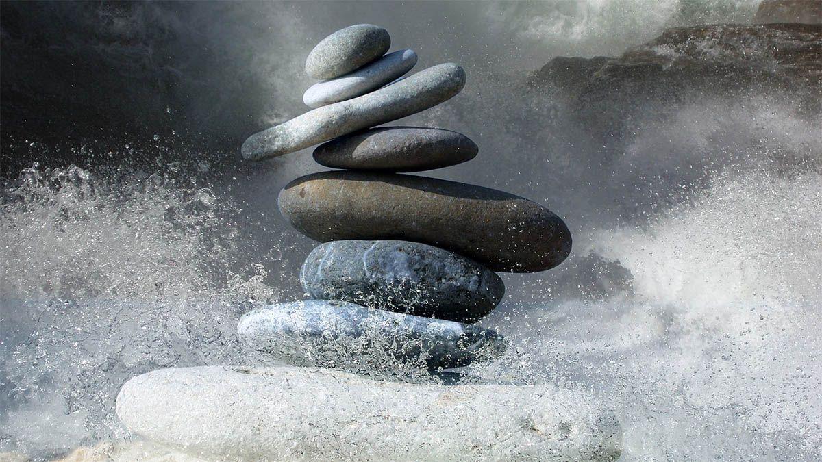 zen-steine-rauhe-see