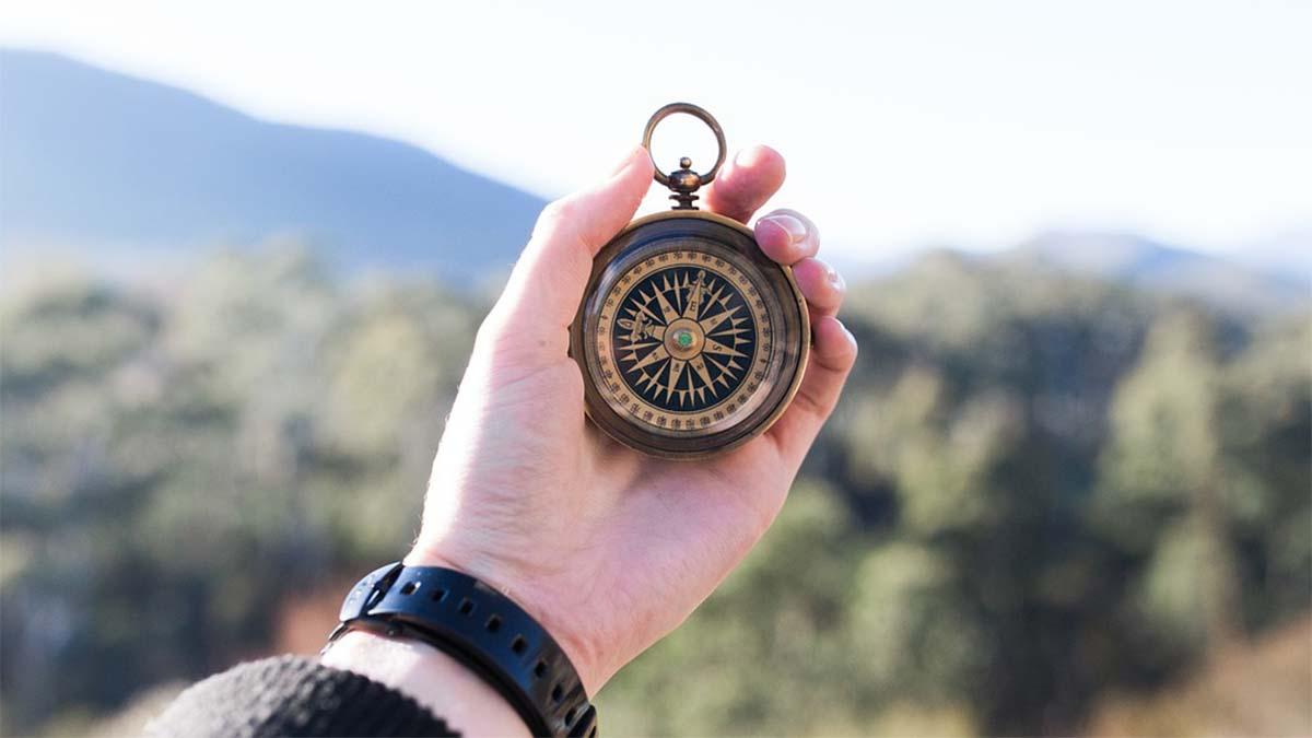 ziel finden kompass