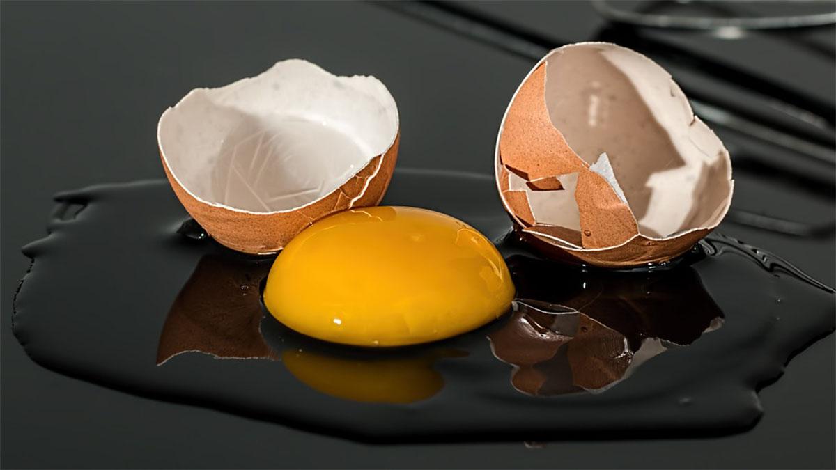 eierschale entfernen