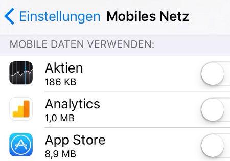 einstellungen mobiles netz