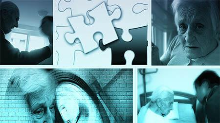 Alzheimer Demenz Kollage Low