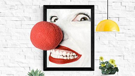 clownsnase-lachen