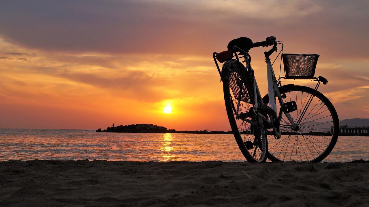 fahrrad-sonnenuntergang