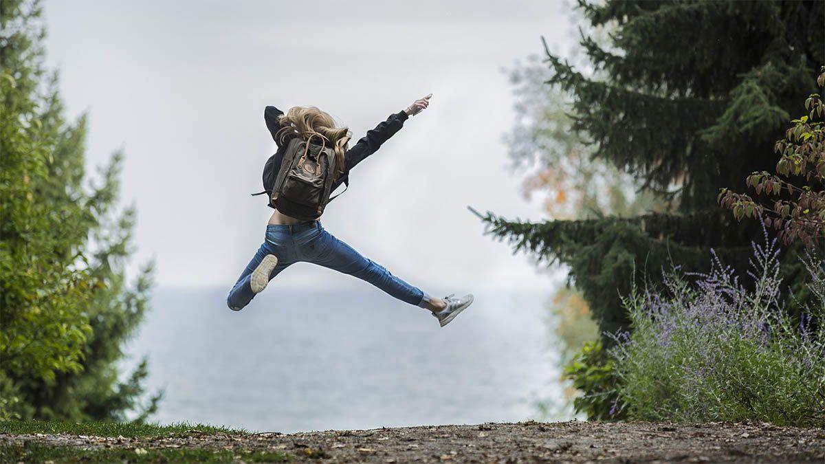 freude springen