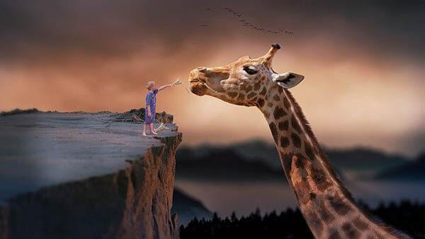 giraffe kind phantasie klein