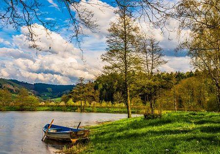 landschaft see boot