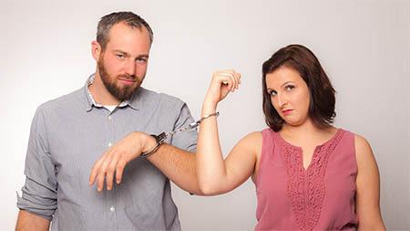 Mann Und Frau Handschellen Low
