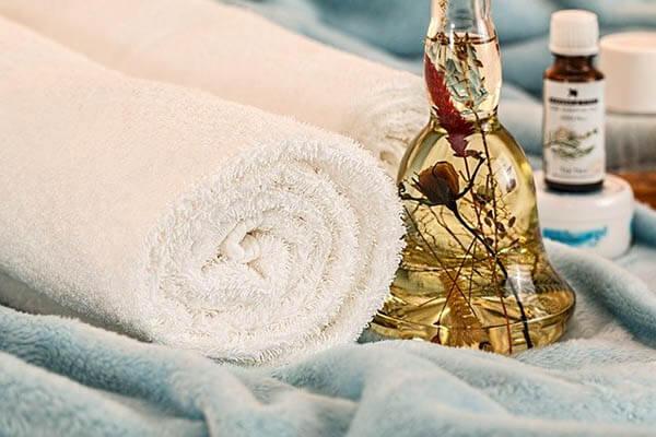 massageoel handtuch