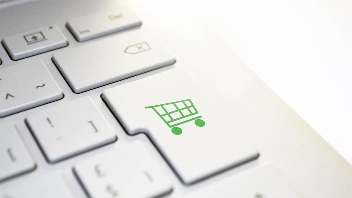 online shopping tastatur einkaufswagen