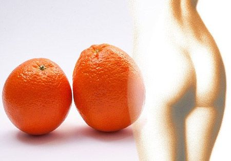 orange frau silhuette orangenhaut