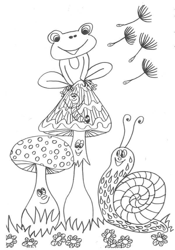 screenshot frosch pilze schnecke