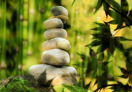 steine gruen entspannung