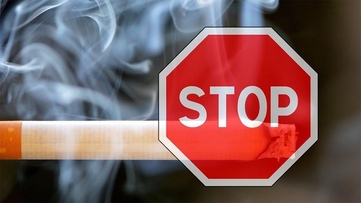 stop smoking zigarette schild