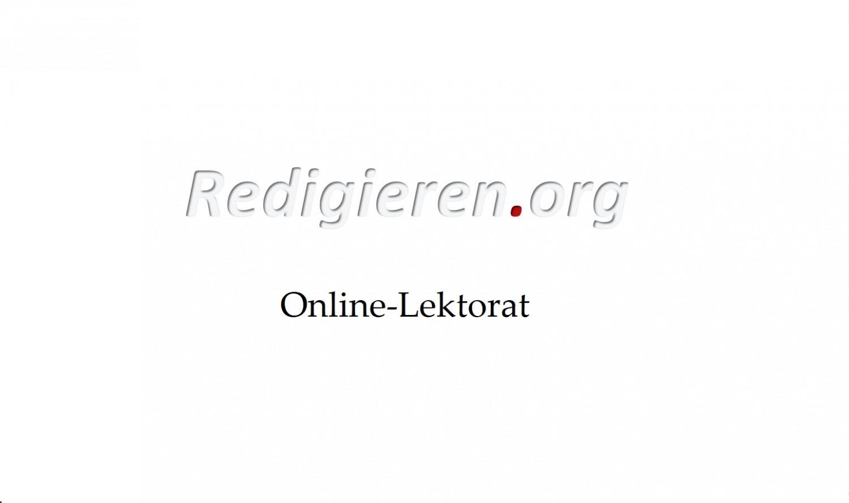 Lektorat und Korrektorat für Autoren, Firmen, Studenten und Bewerber