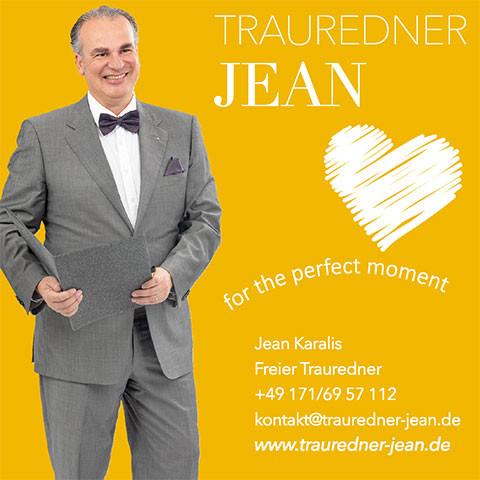 Trauredner Jean Karalis
